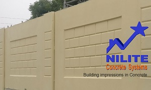 Nilite Concrete Systems manufacturer of Precast Concrete Toilets and Precast Concrete Boundary Wall