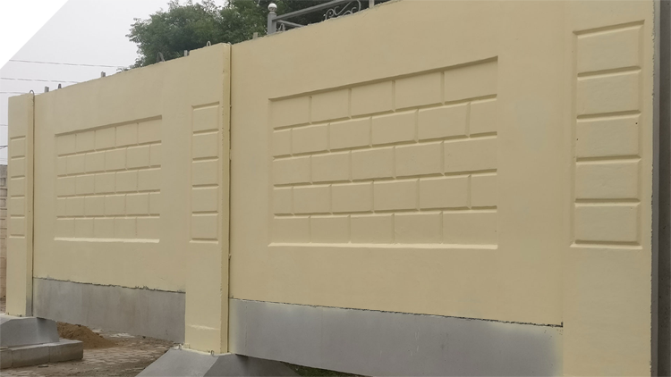 Precast Concrete Boundary Wall